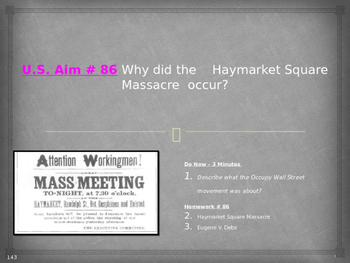 U.S. Aim # 86 Why did the Haymarket Square Massacre occur?