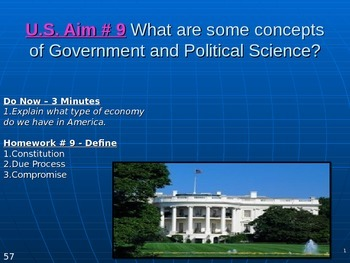 U.S. Aim # 9 What are some concepts of Government and Poli