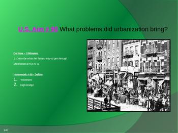 U.S. Aim # 90 What problems did urbanization bring?