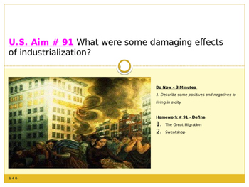 U.S. Aim # 91 What were some damaging effects of industria