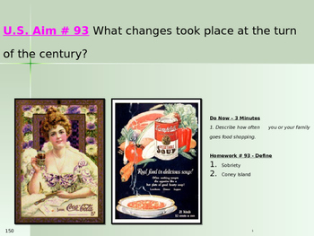 U.S. Aim # 93 What changes took place at the turn of the century?