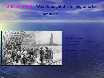 U.S. Aim # 94 What brought the immigrants to America?