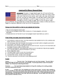 U.S./American History Mini-Research Paper with Rubric and Suggested Topics
