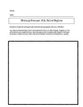 U.S. Bill of Rights Worksheet