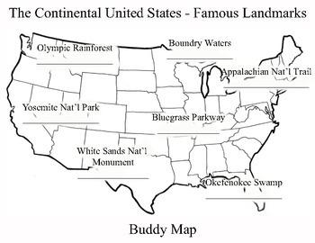 U.S. Buddy Map