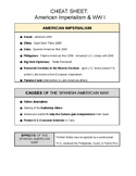 U.S. CHEAT SHEET - AMERICAN IMPERIALISM & WWI (DOC) - QUIZ & REGENTS REVIEW