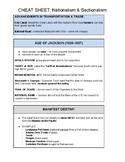 U.S. CHEAT SHEET - NATIONALISM & SECTIONALISM (PDF) - QUIZ & REGENTS REVIEW