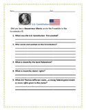 U.S. CONSTITUTION, A SOCIAL STUDIES PROJECT- GRADES 5-9