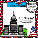 "U.S. ""Capital"":  NO PREP Letter Spot and Dot Game"