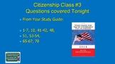 U.S. Citizenshp Class 3 (of 6) Mini-Course