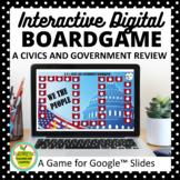 U.S. Civics and Government Digital Board Game for Google Slides