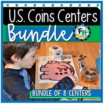 U.S. Coins Activity Centers {Bundle of 8 Centers}