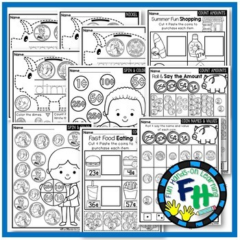 U.S. Coins Interactive Worksheets {NO PREP}