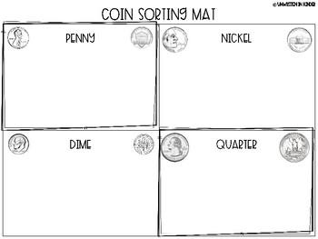 U.S. Coins Sorting Mat