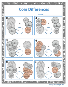 U. S. Coins - Values, Sums & Differences