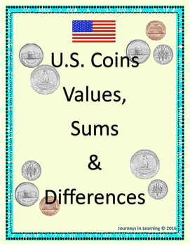 u s coins values, sums \u0026 differences