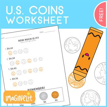 Matching Coin Worksheet Teaching Resources | Teachers Pay Teachers