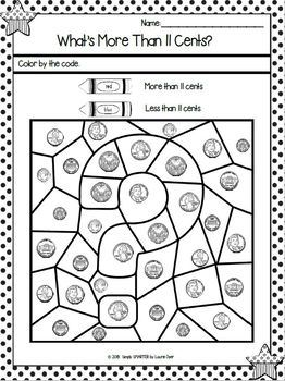 U.S. Coins Worksheets:  NO PREP Money Worksheets