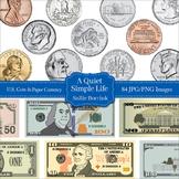 U.S. Coins and Paper Currency Clip Art - U.S. Money Clipart Bundle