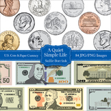 U.S. Coins and Paper Currency Clip Art - U.S. Money Clipar