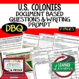 U.S. Colonies Document Based Questions & Writing Prompt with Checklist