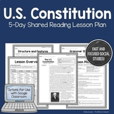U.S. Constitution: 5-Day Shared Reading Lesson Plan