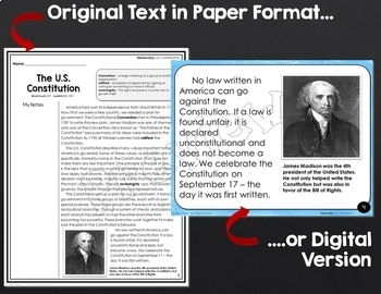 U.S. Constitution: Shared Reading Lesson Plan