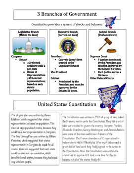 U.S. Constitution & Amendments Reading