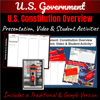 U.S. Constitution: An Overview ~A Power-point & Student Activity~