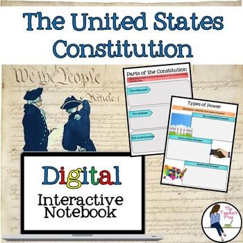 U S Constitution Digital Interactive Notebook For Google Drive
