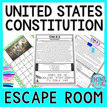 U.S. Constitution ESCAPE ROOM! - Government - No Props!