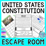 U.S. Constitution ESCAPE ROOM Activity! Constitution Day -Founders Month