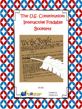 U.S. Constitution Interactive Foldable Booklets - EBOOK