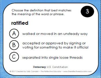 U.S. Constitution ~ Lesson Bundle