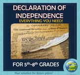 Declaration of Independence Lesson Plan for 5th, 6th, 7th, & 8th Graders