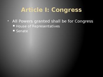 U.S. Constitution PowerPoint Presentation