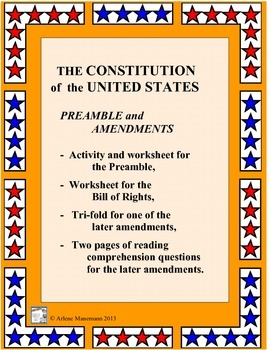 U. S. Constitution: Preambl... by Arlene Manemann | Teachers Pay ...