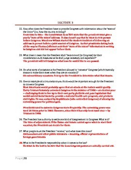 U.S. Constitution Step by Step -- Article II Worksheet
