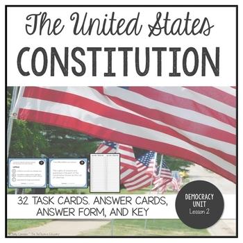 U.S. Constitution ~ Task Cards