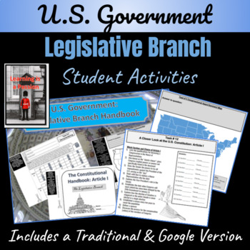 U.S. Government: The Legislative Branch Student Handbook Activity