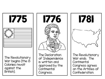 U.S. Constitution Timeline Cards ~ Perfect for Constitution Day in September!
