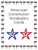 U.S. Constitution Vocabulary Flash Cards
