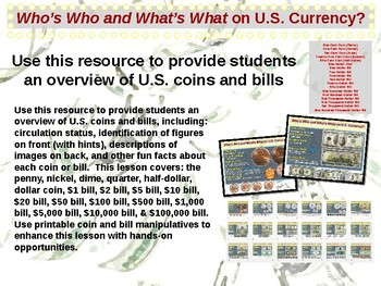 U.S. Currency - Bills and Coins Overview (part 1 of 12)