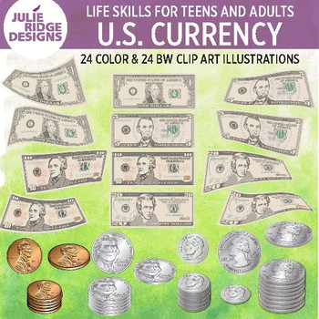 U.S Currency Clip Art Illustrations