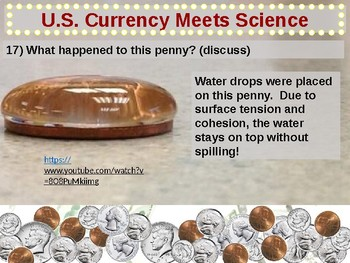 U.S. Currency - Money Meets Science (part 8 of 12) materials, experiments & more