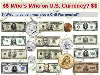 U.S. Currency - SWAT review game (part 10 of 12)