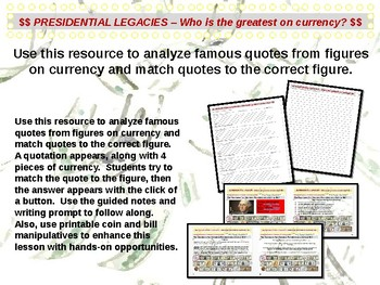 U.S. Currency - Which President on Currency is the Greatest? (part 6 of 12)