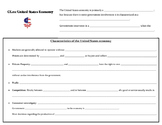 U.S. Economy note page (Virginia Civics SOL CE.11c)