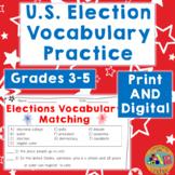 U.S. Election Vocabulary Activities & Quiz   Print & Digital   Distance Learning