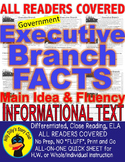 US Executive Branch FACTS CLOSE READING 5 LEVEL PASSAGES Main Idea Fluency TDQ